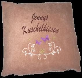 Kissen mit Namen und Motiv Jenny
