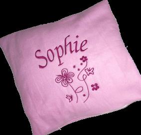 Kissen mit Namen und Motiv Sophie