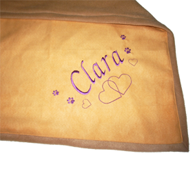 """Tierdecke mit Namen Modell """"Clara"""""""